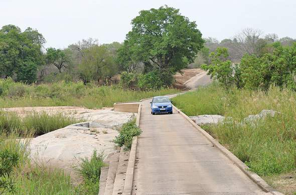 Low level bridge near Skukuza.