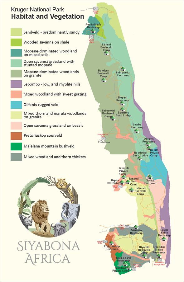 Kruger Park Birding Biome Habitat Map