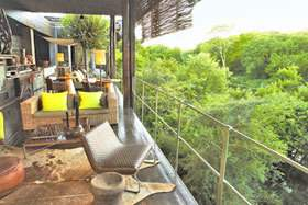 View from Singita Sweni Private Lodge balcony.
